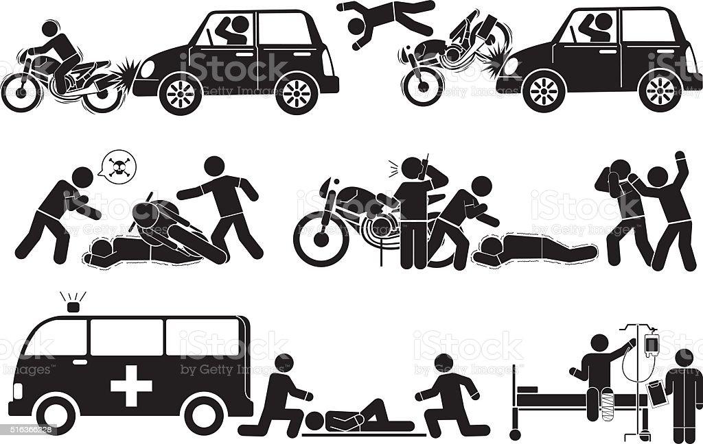 accident vector art illustration