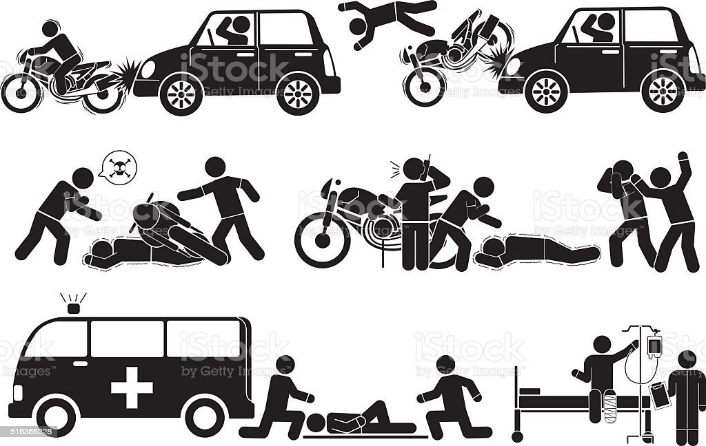 accident vector art illustration