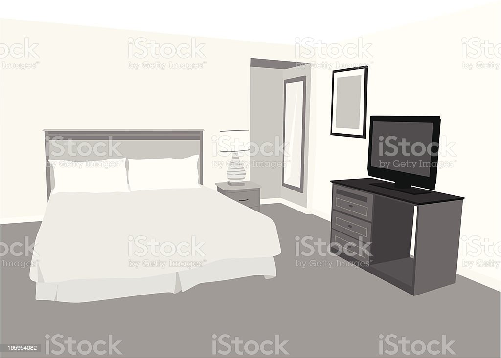 Accommodation Vector Silhouette vector art illustration
