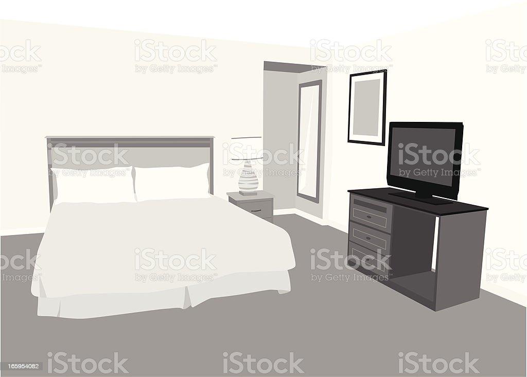 Accommodation Vector Silhouette vector art illustration