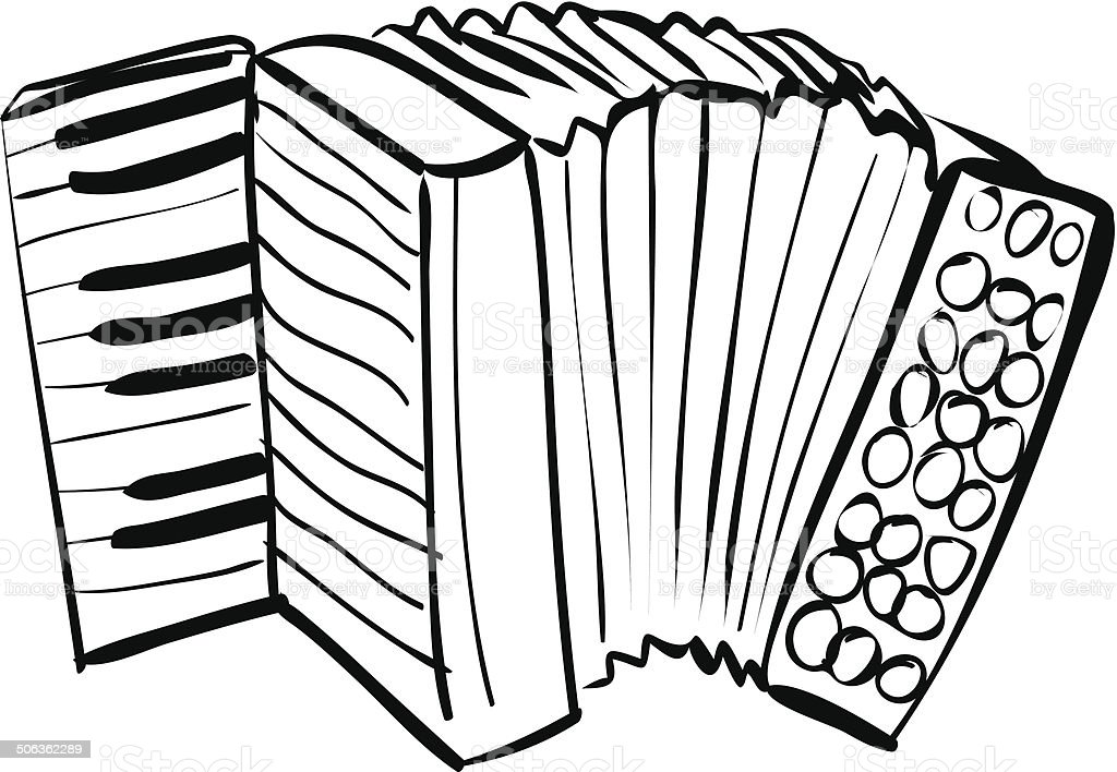 Accordion Doodle vector art illustration