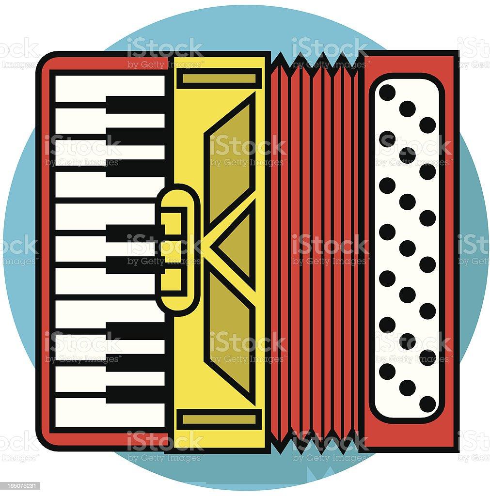 accordion icon royalty-free stock vector art