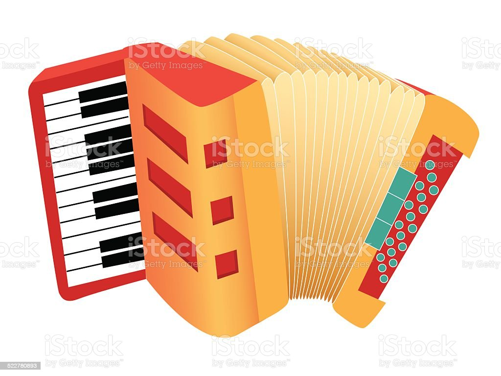 Accordion vector art illustration