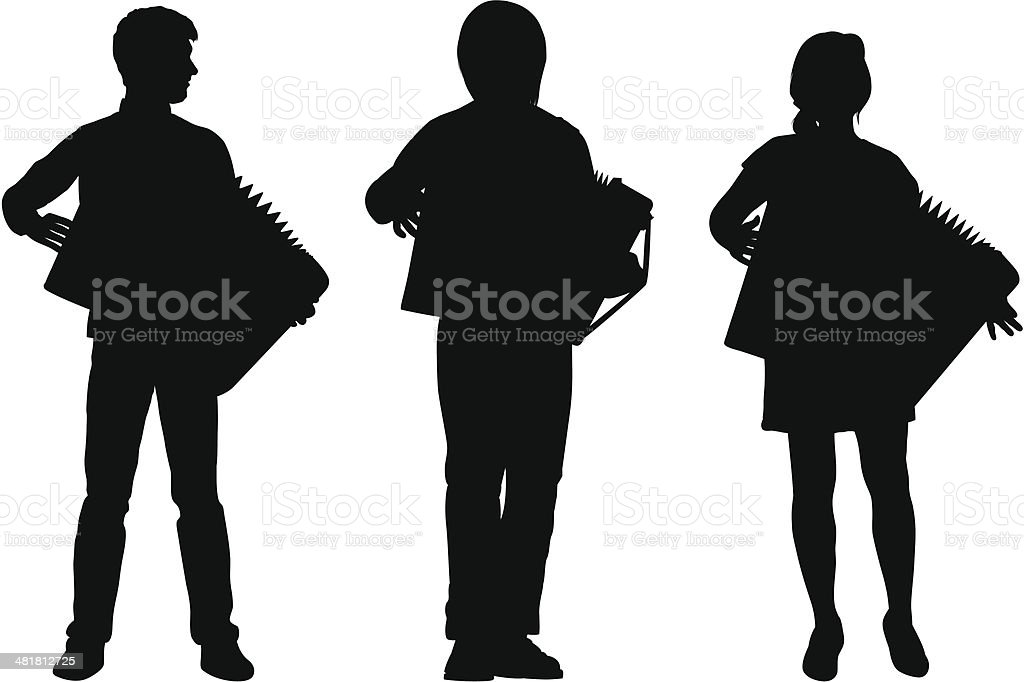 Accordions royalty-free stock vector art