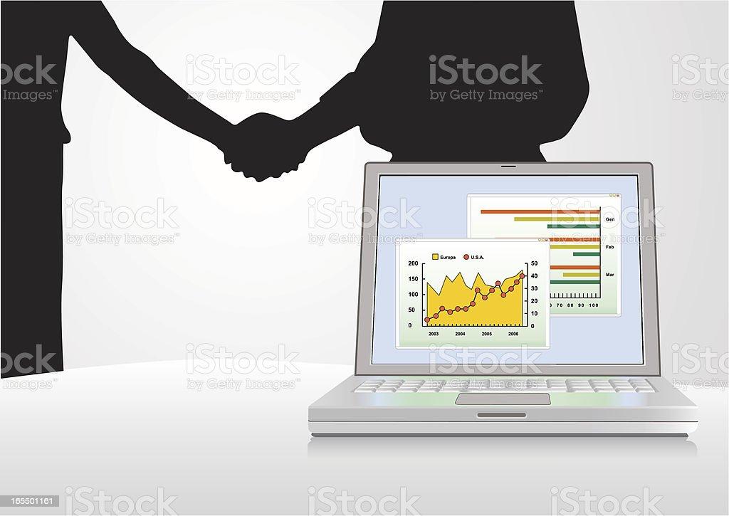 Accordo finanziario royalty-free stock vector art