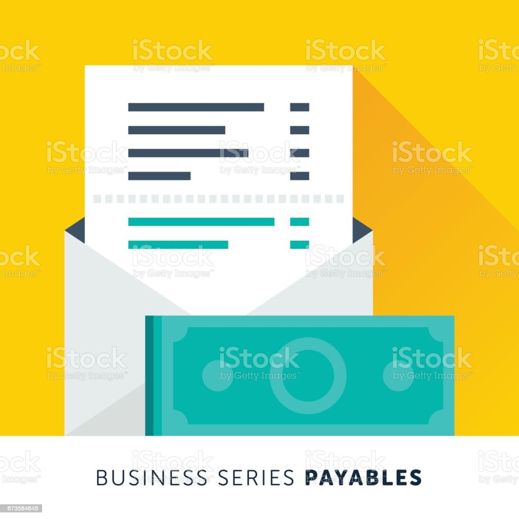 Account Payables vector art illustration