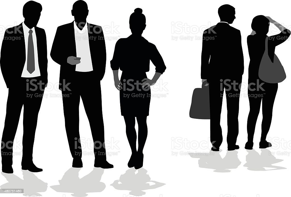 Accountant  And Business Friends vector art illustration