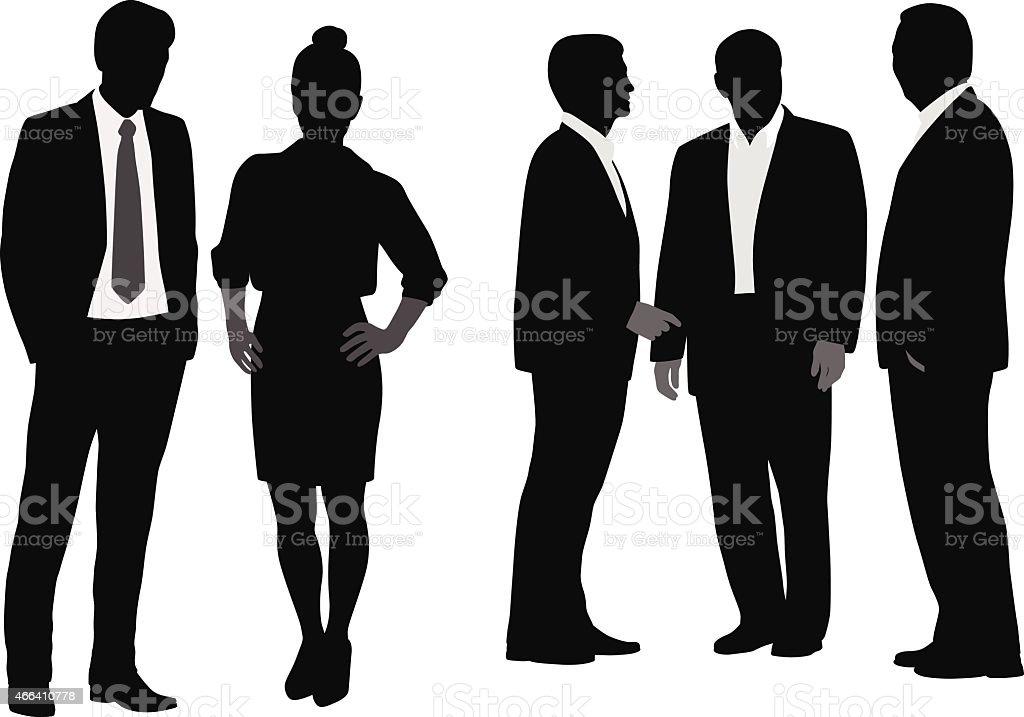 Accountants vector art illustration