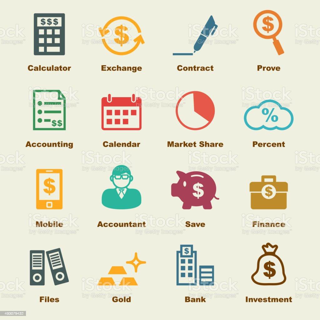 accounting elements vector art illustration