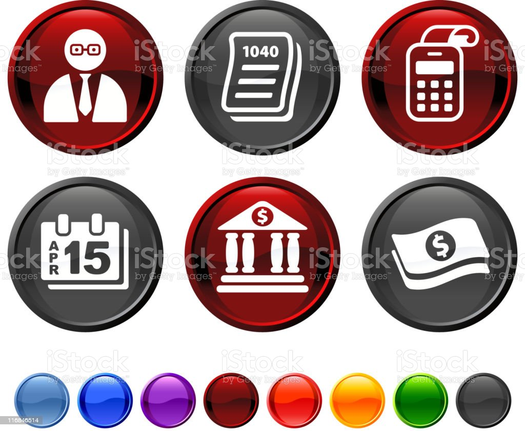 Accounting royalty free vector icon set royalty-free stock vector art