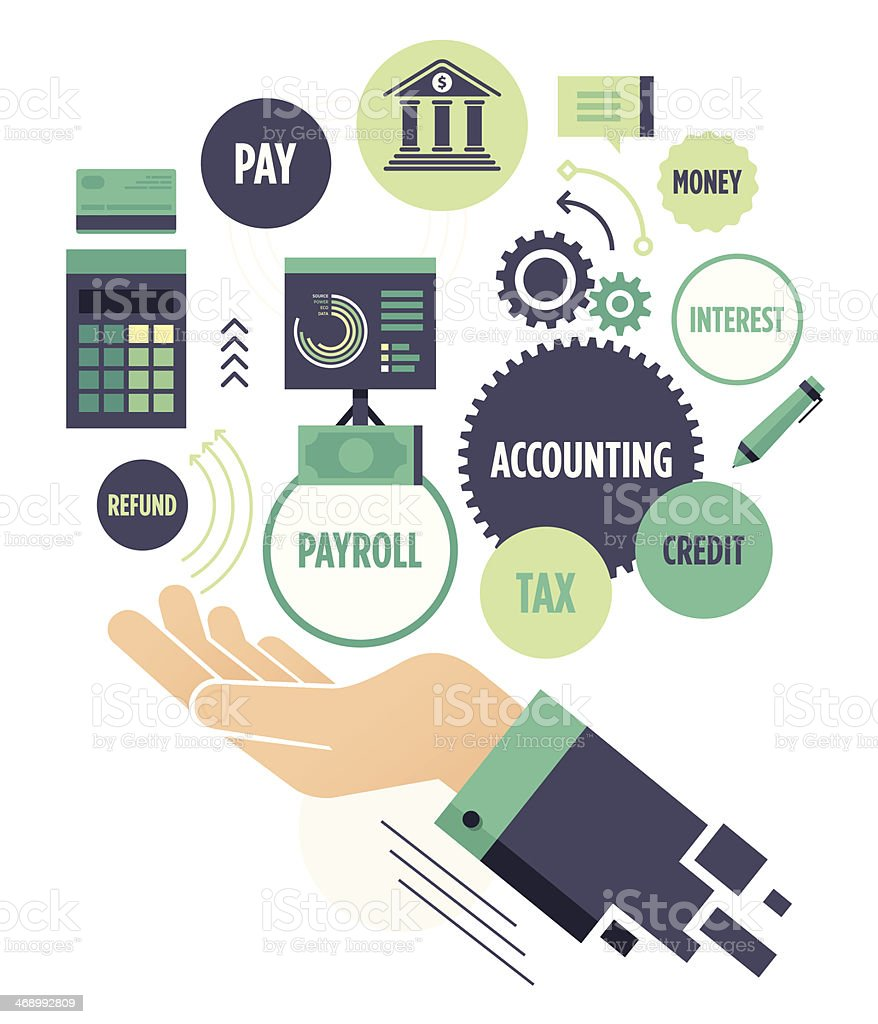 Accounting vector art illustration