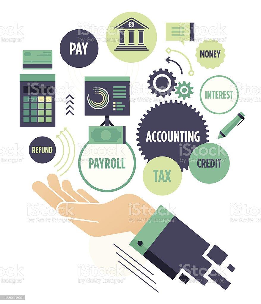 Accounting vector art illustration