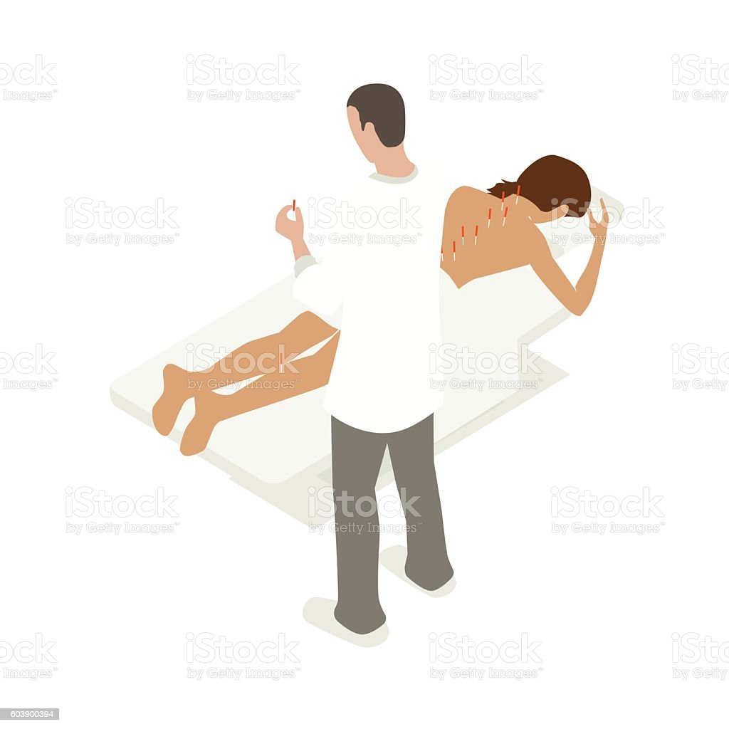 Accupuncture therapy illustration vector art illustration