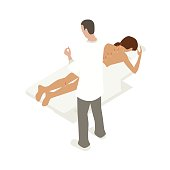 Accupuncture therapy illustration