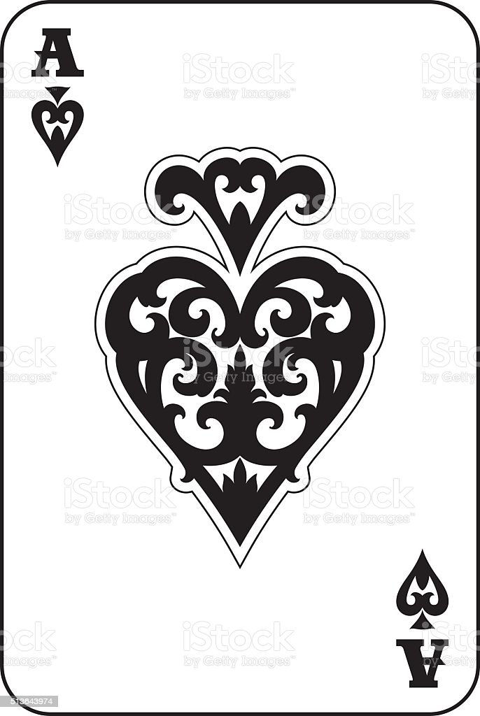 Ace of spade vector art illustration