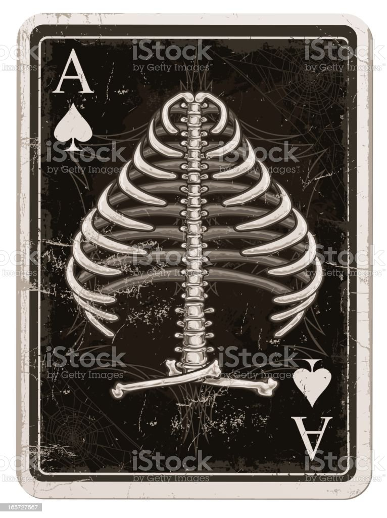Ace of Spades in Bones royalty-free stock vector art