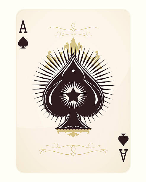 Ace Of Spades Clip Art, Vector Images & Illustrations - iStock