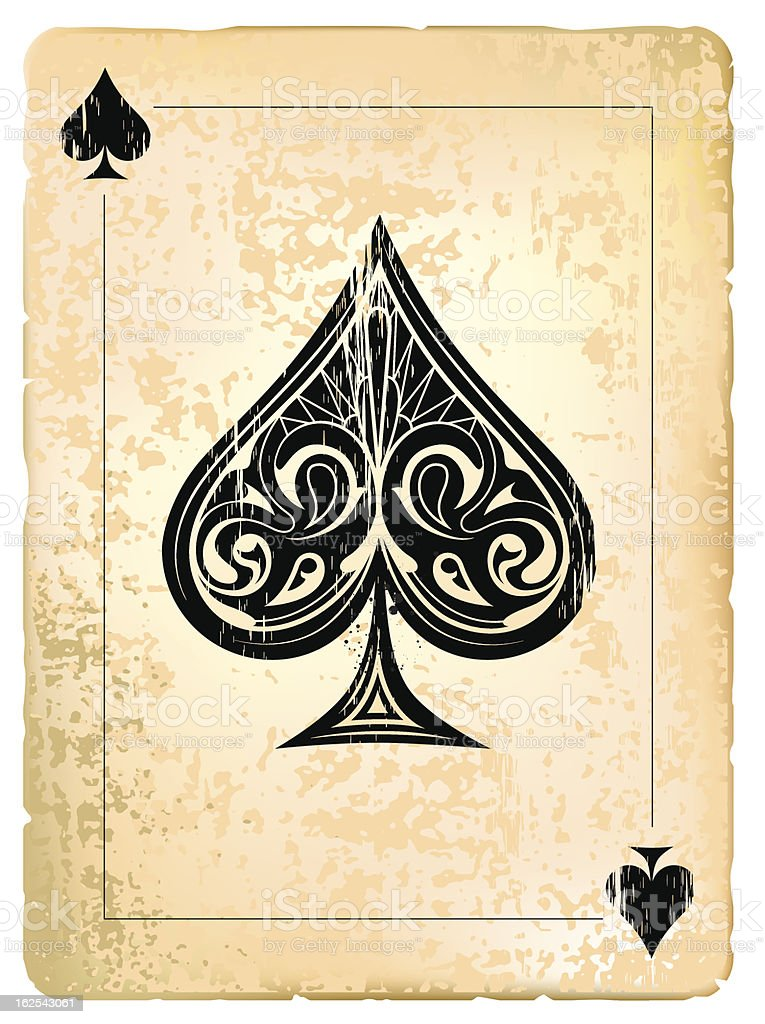 Ace of spades vector art illustration