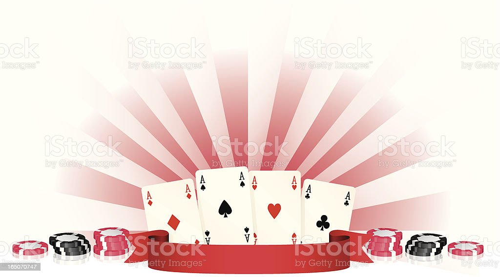 Aces and Banner royalty-free stock vector art
