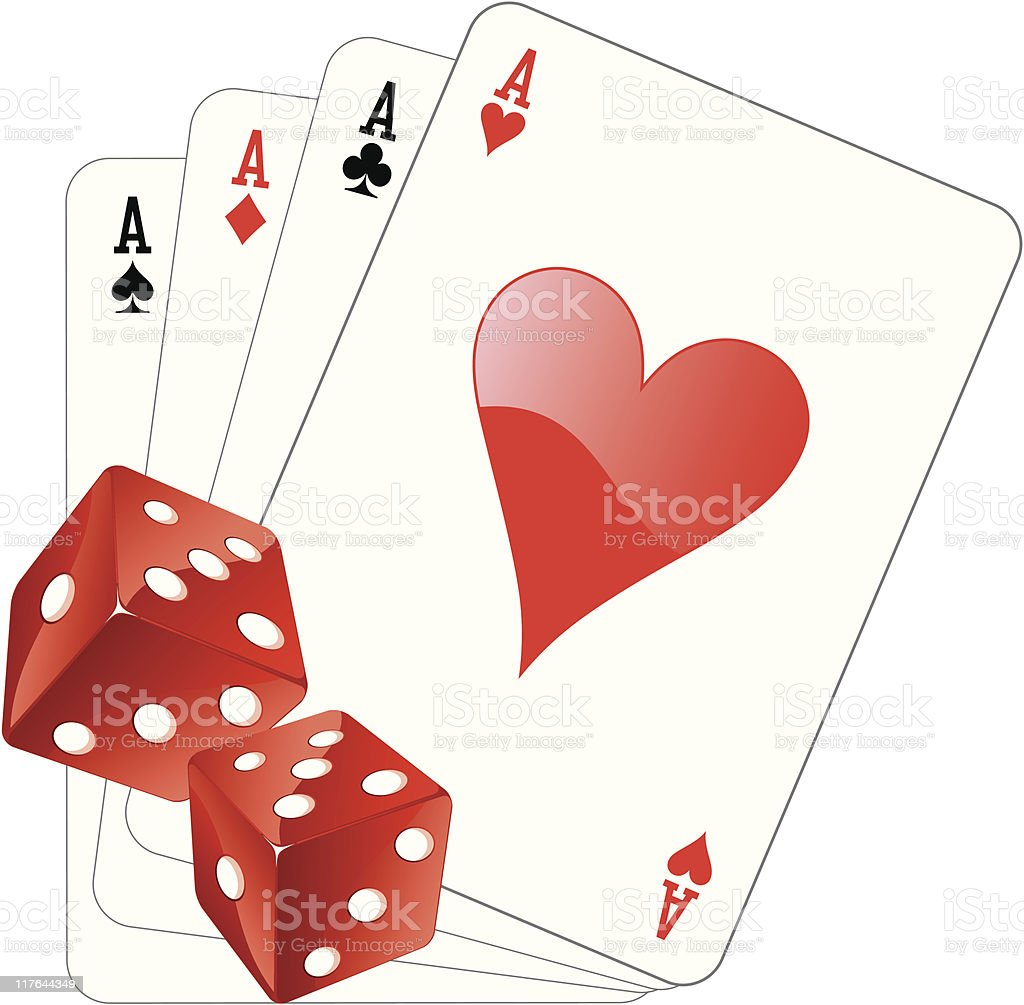 aces and dices royalty-free stock vector art