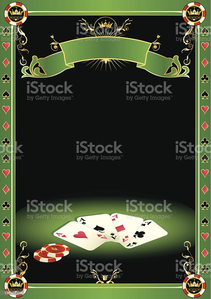 Aces on the table vector art illustration