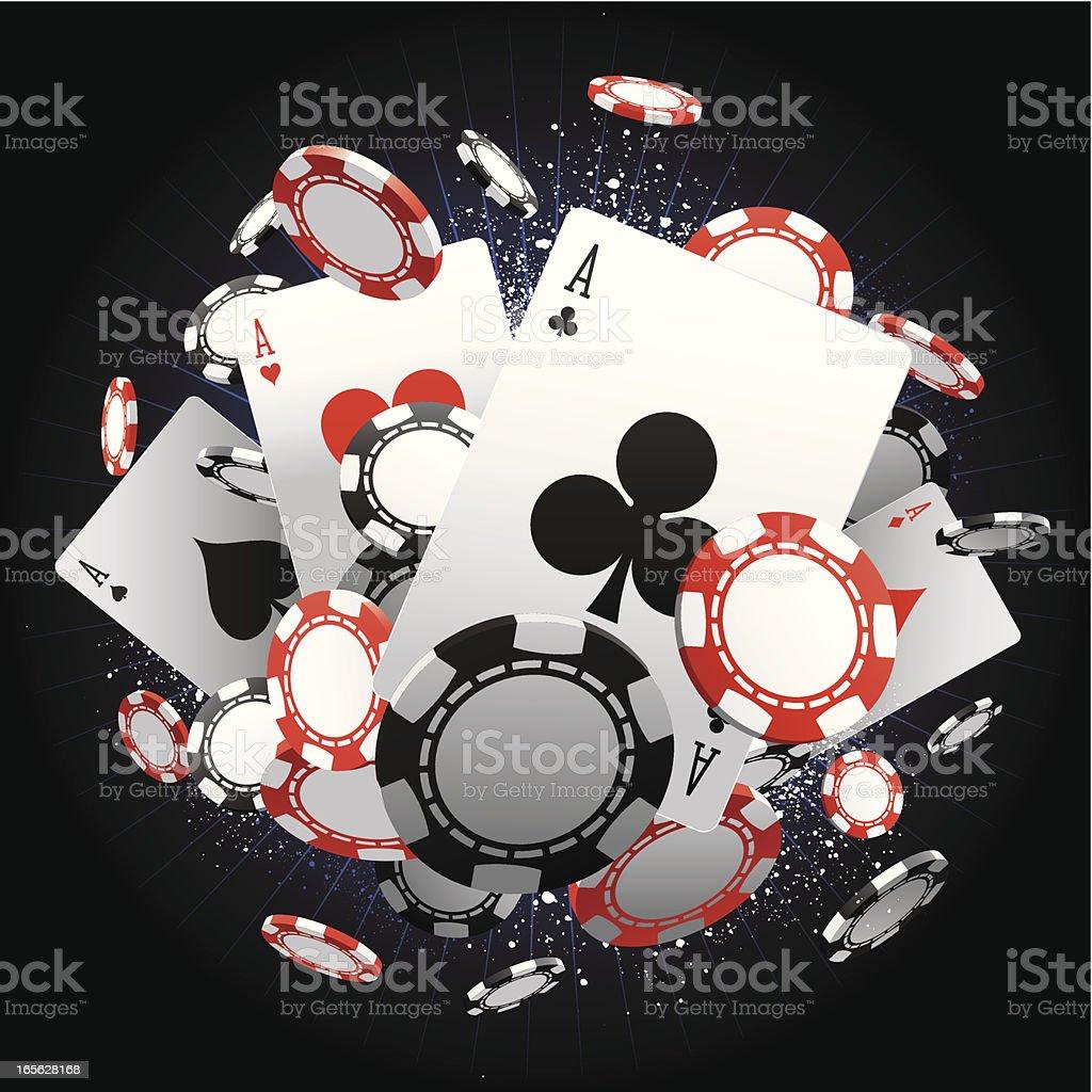 Aces vector art illustration