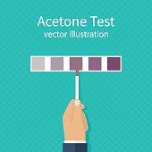 Acetone test. vector