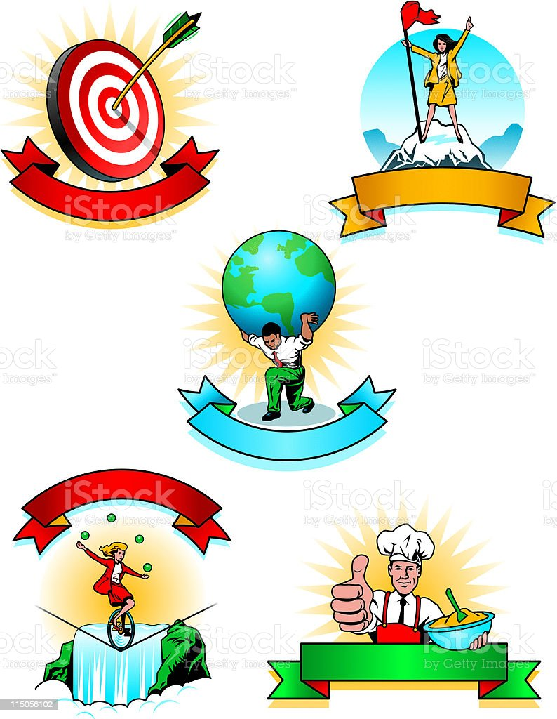 Achievement and Recognition Icons royalty-free stock vector art