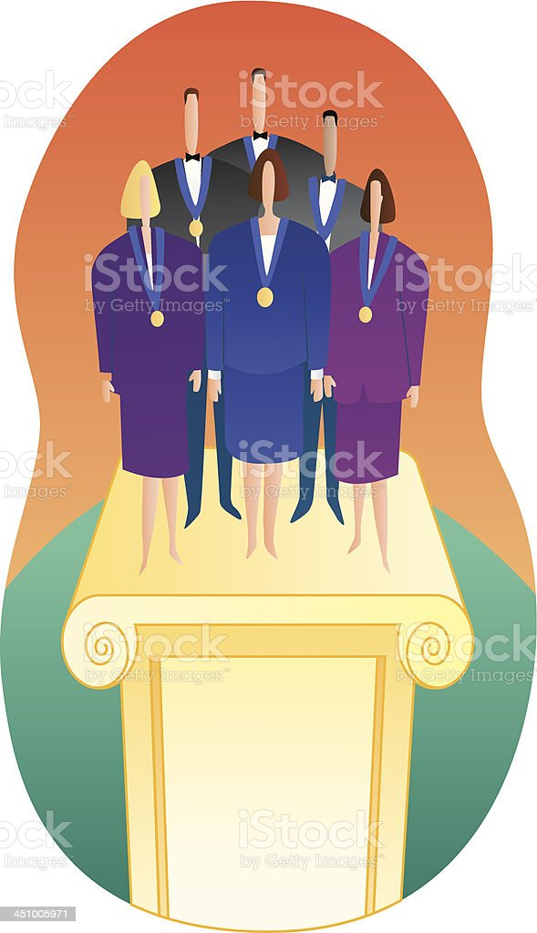achievement awards royalty-free stock vector art
