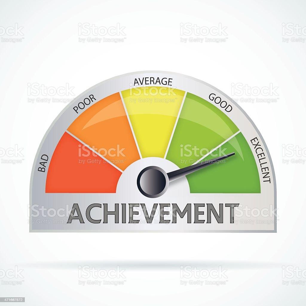 Achievement chart vector art illustration