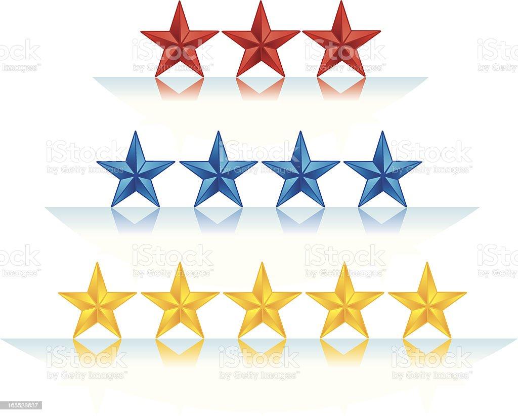 Achievement - Stars Ratings royalty-free stock vector art