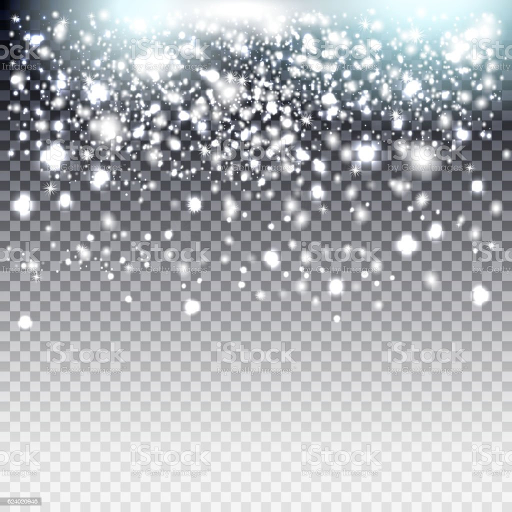 ackground effect for luxury greeting card. Star dust sparks vector art illustration