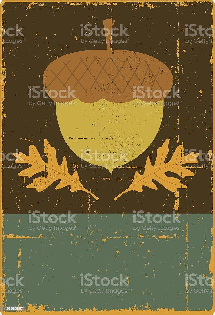 Acorn Sign vector art illustration