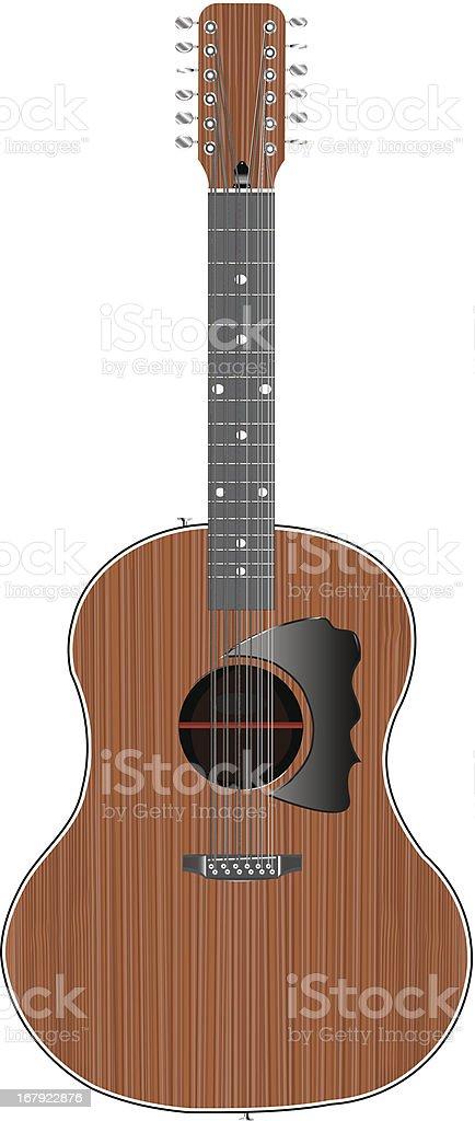 Acoustic 12String Guitar (Vector) vector art illustration