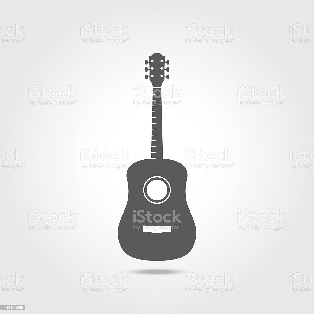 Acoustic Guitar Icon. vector art illustration