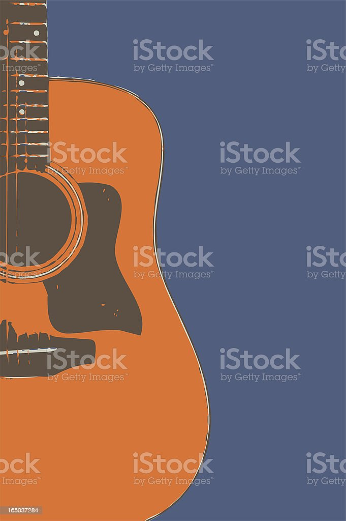 Acoustic Guitar Side (Vector) royalty-free stock vector art