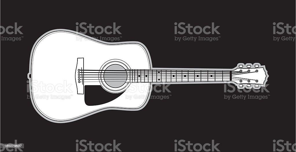 Acoustic Guitar royalty-free stock vector art