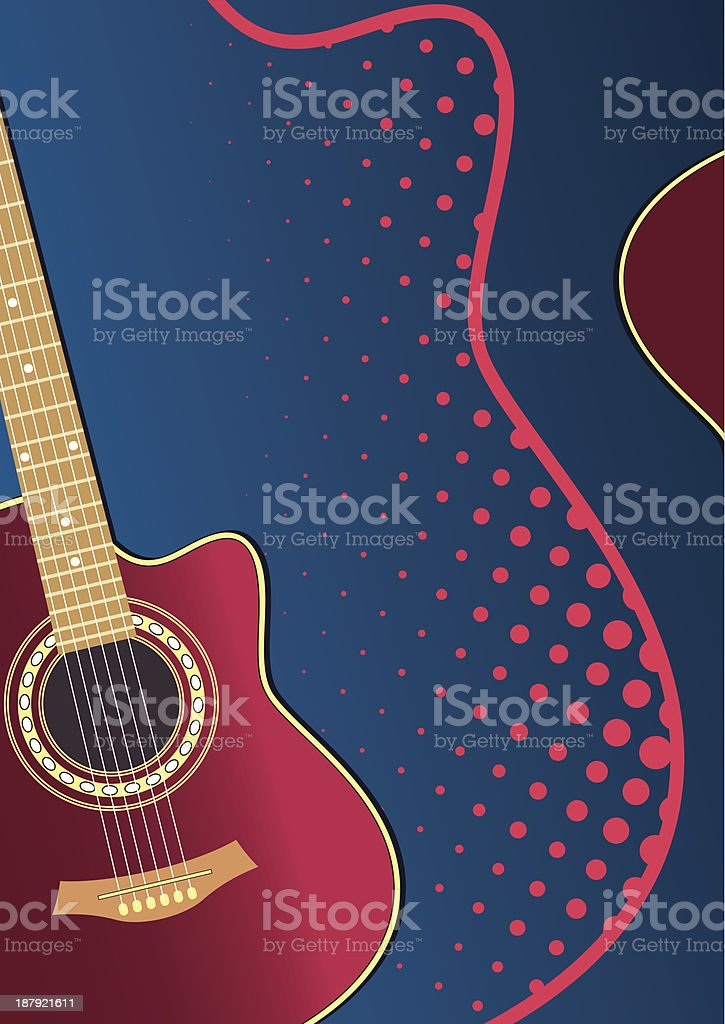 acoustic guitar royalty-free stock vector art