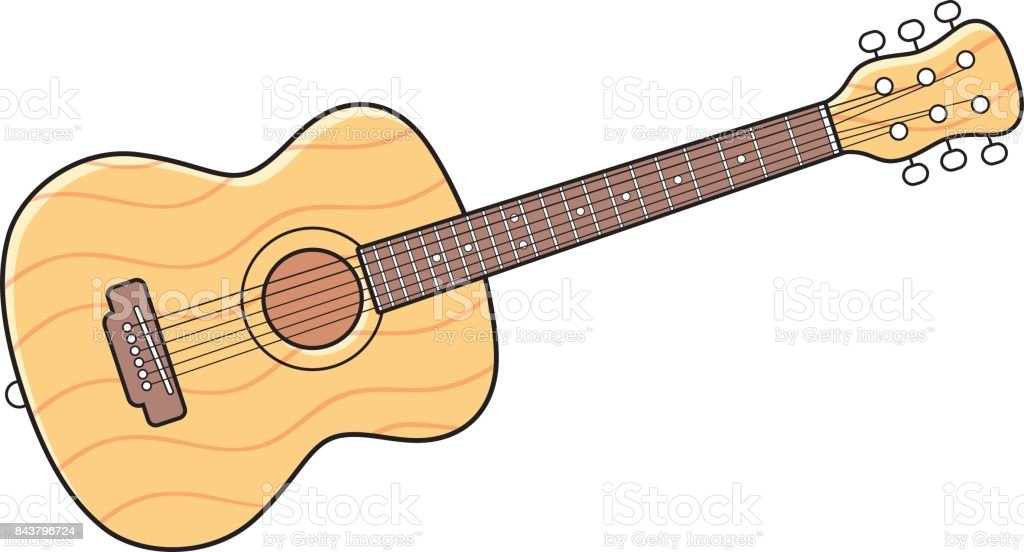 Acoustic guitar. vector art illustration