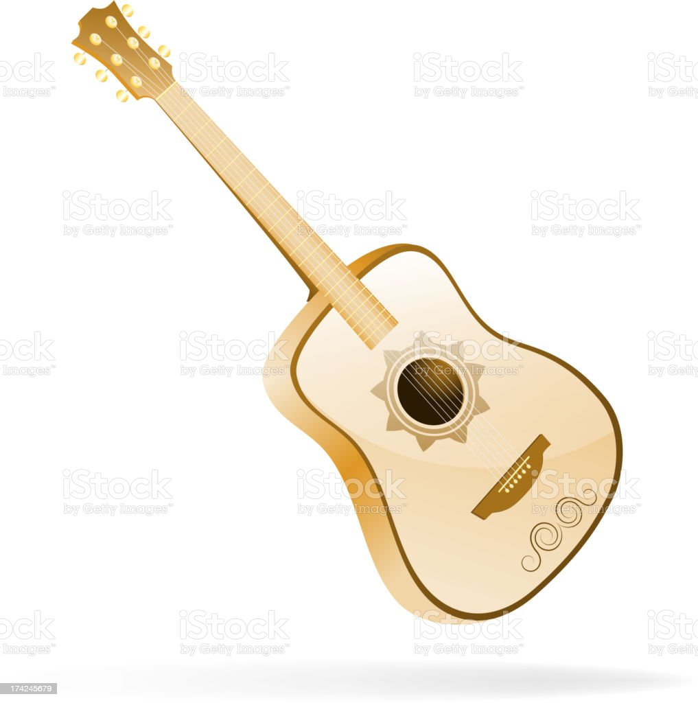 Acoustic guitar. Vector illustration vector art illustration