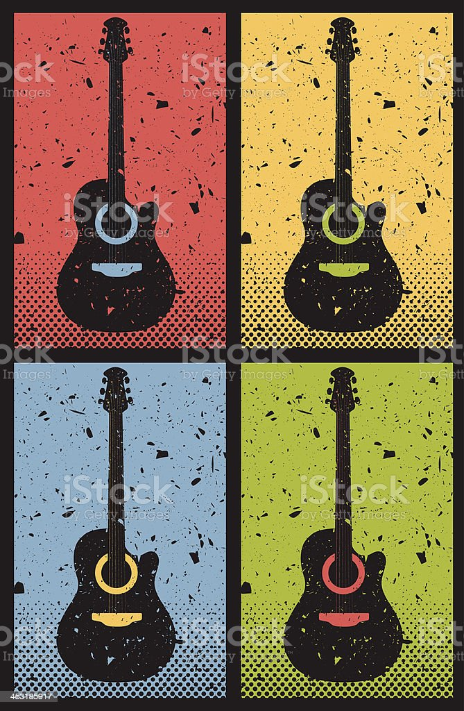 Acoustic Guitars royalty-free stock vector art