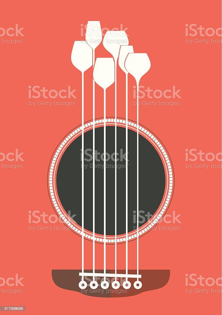 Acoustic Party vector art illustration