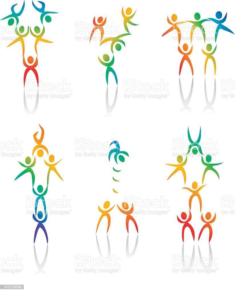 Acrobats: Diversity Rainbow royalty-free stock vector art
