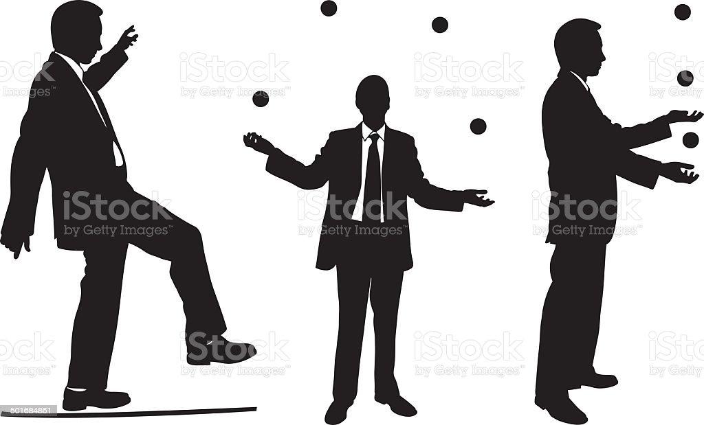 acrobats vector art illustration