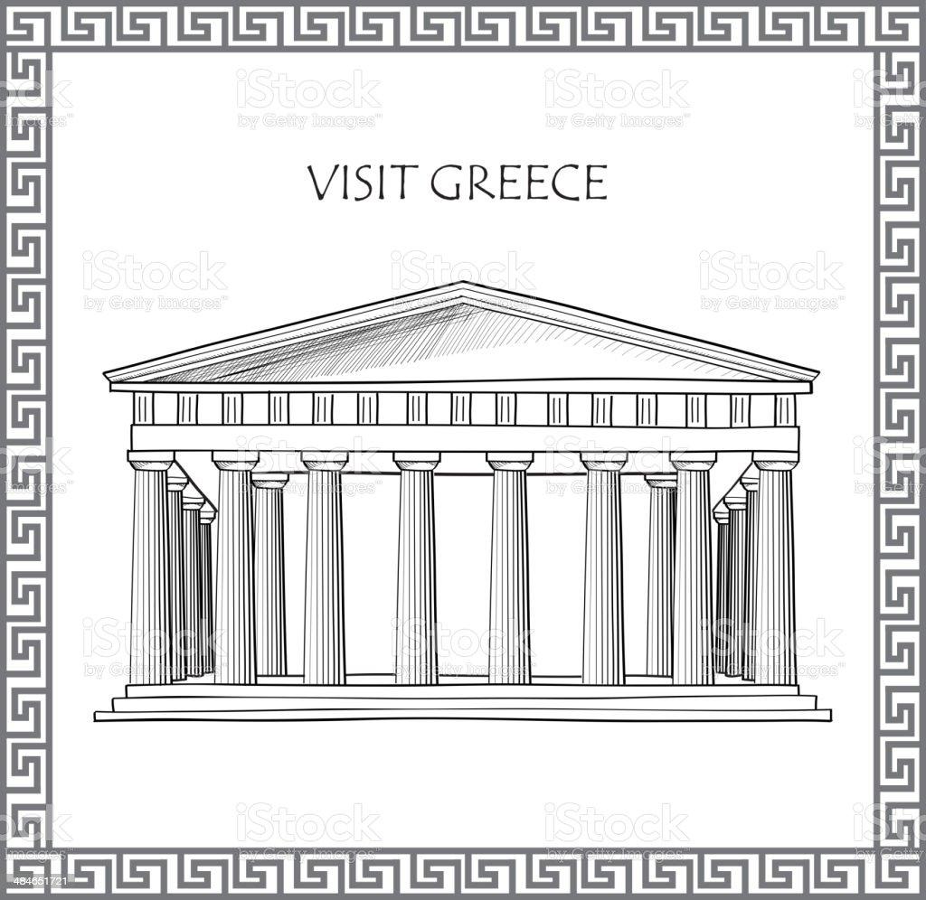 Acropolis in Athens, Greece vector art illustration