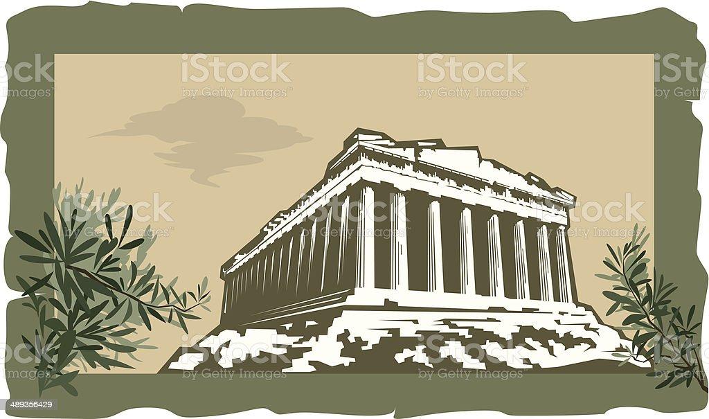 Acropolis Site vector art illustration