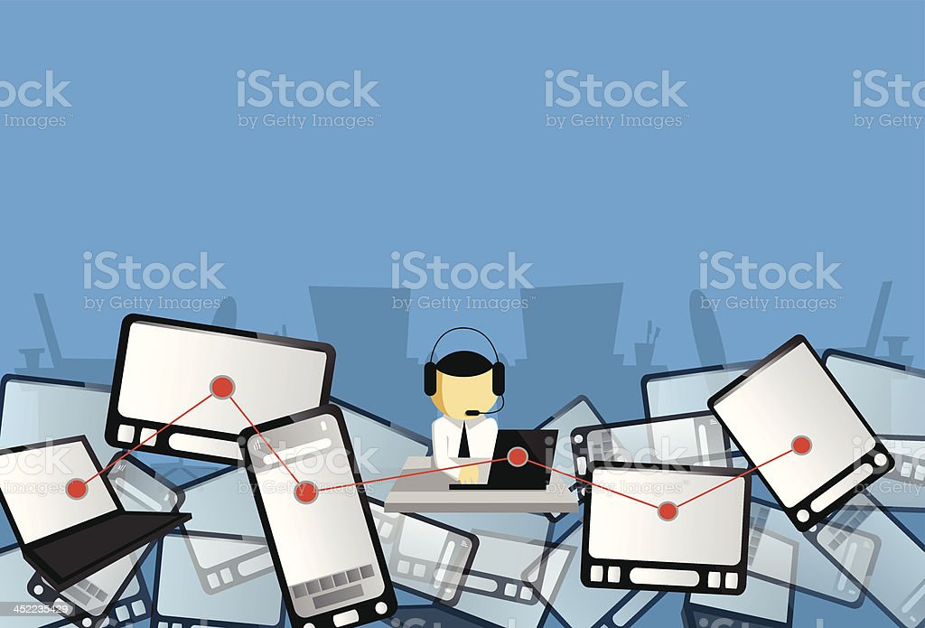 Across systems royalty-free stock vector art