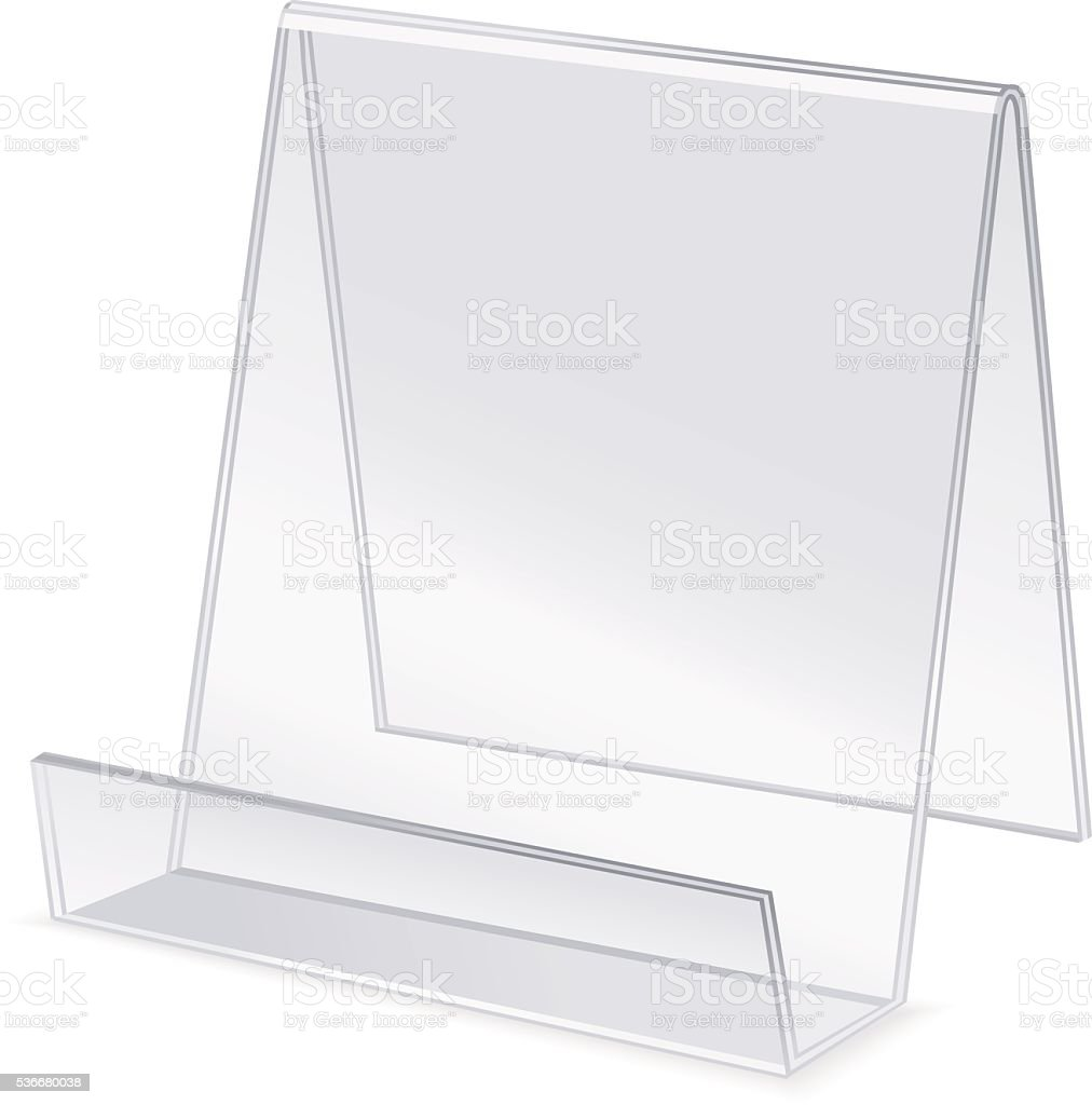 Acrylic holder. Vector vector art illustration