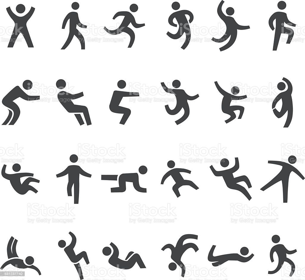 Action and Movement Icons - Big Series vector art illustration