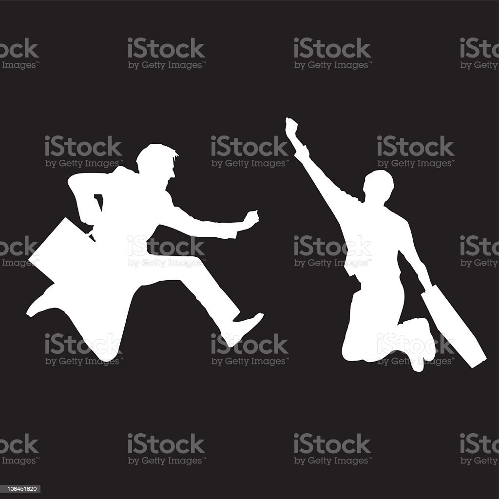 Action Business man vector art illustration